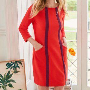 BODEN Anika Tunic Dress Post Box Red Ruby {YY10}